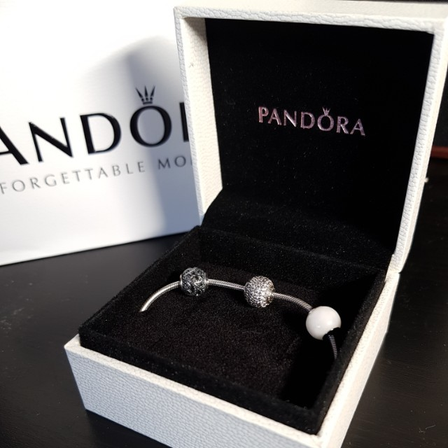 Pandora Essence bracelet with 3 charms