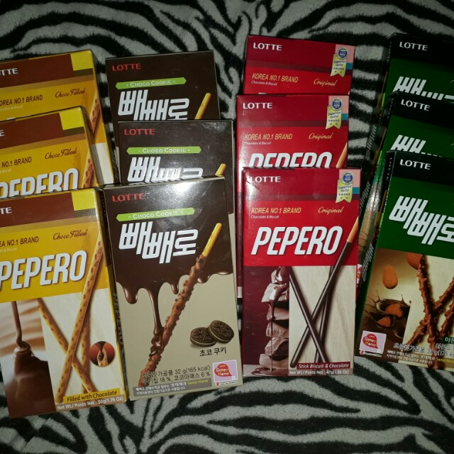 Pepero chocolates