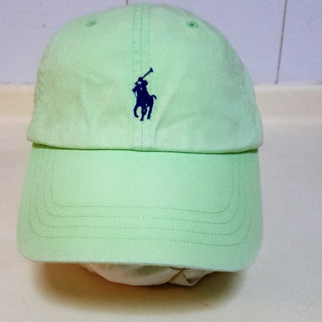Polo Ralph Lauren Cap with Leather Strap - 100% Authentic (Price ... ecf6b974fee