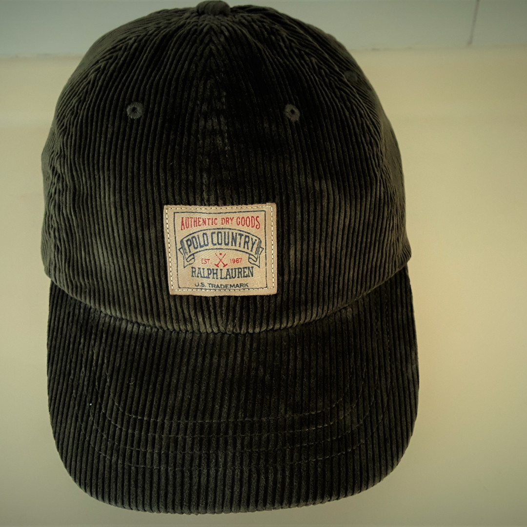 5d067473f Polo Ralph Lauren Cap with Leather Strap - Corduroy (100% Authentic ...