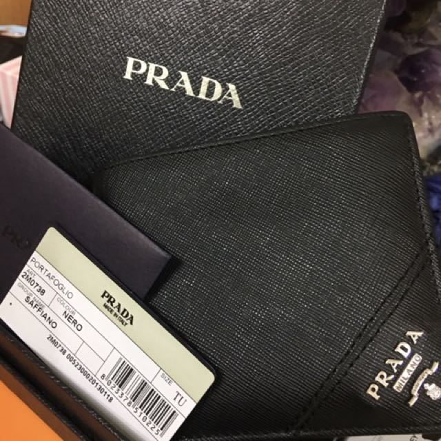 Prada男用短夾 九成新