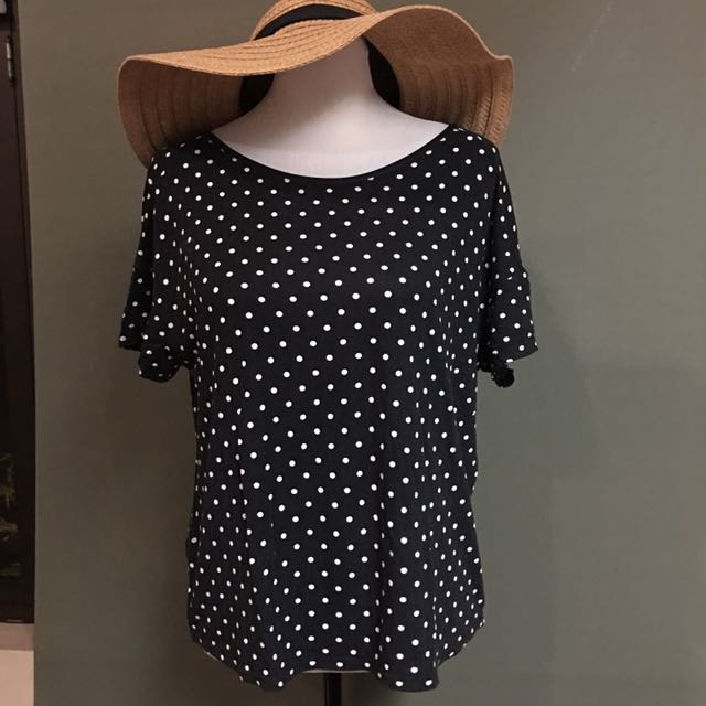 Promod Polka Dot Loose Top