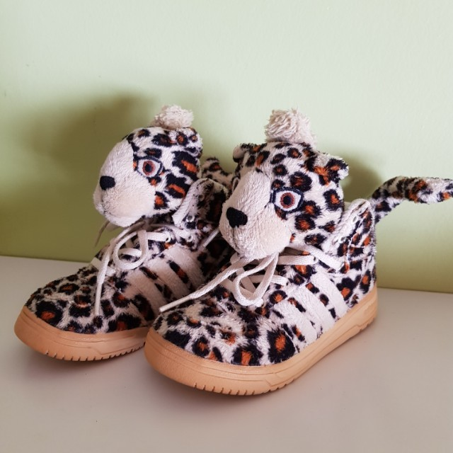 pretty nice cc997 3c3b6 RARE Adidas Originals Jeremy Scott Leopard Infants Kids UK5, Babies ...
