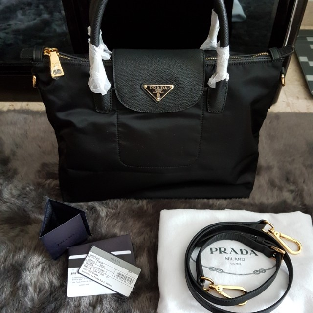 287d1c88c3c3 ... shopping ready stock authentic prada tessuto with saffiano leather shopping  tote luxury bags wallets on carousell
