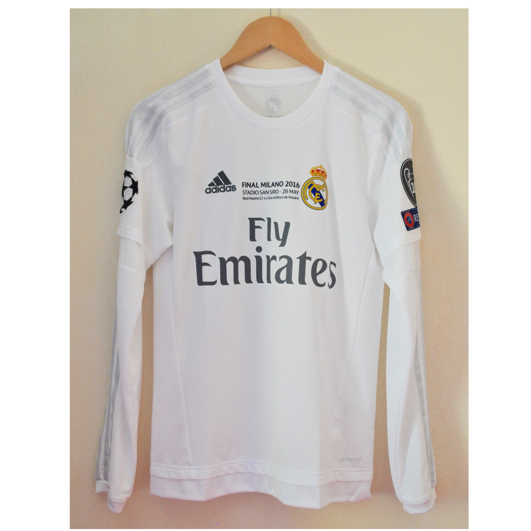 online retailer 80565 38566 Real Madrid Home 2015/16 Champions League Final Ver. Long Sleeve C. Ronaldo