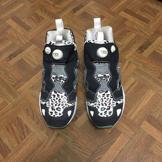 Reebok Insta Pump fury 豹紋 日本知名鞋店聯名款Mita Sneakers 充氣鞋 25cm 非 Nike Adidas Vans