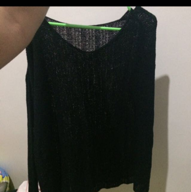 REPRICE Black Knit Top