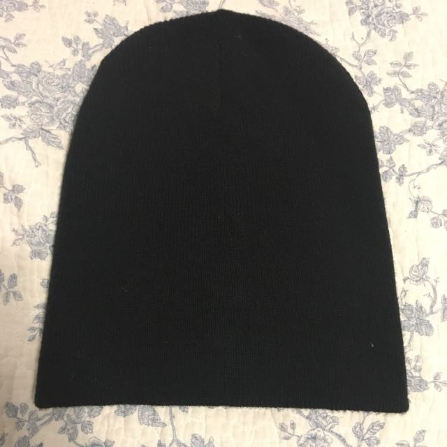 Reversible Black/Grey Beanie