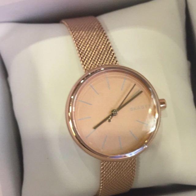 Rose Gold Skagen Watch