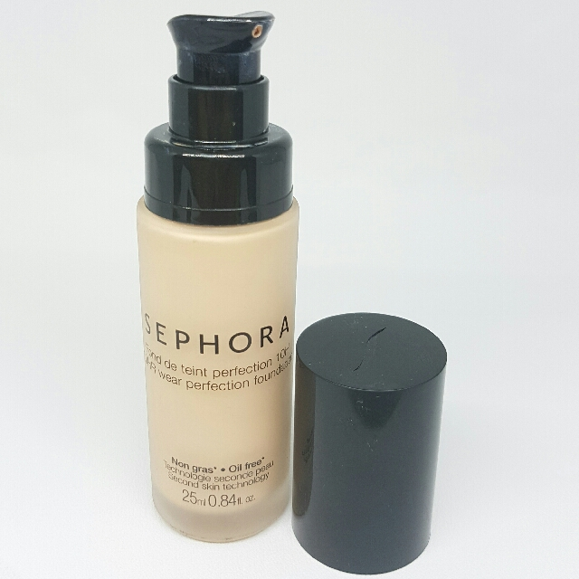 Sephora 10hr Wear Perfection Foundation Shade (14) Clair Light Oil Free Second Skin Technology