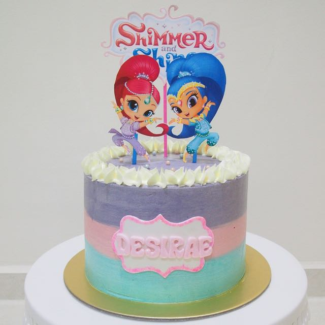 How To Make A Shimmer And Shine Birthday Cake
