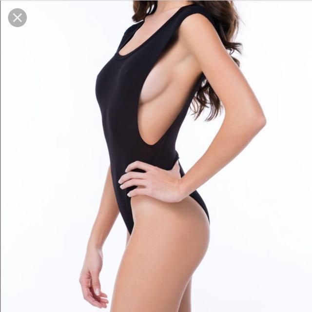 Side boob bodysuit