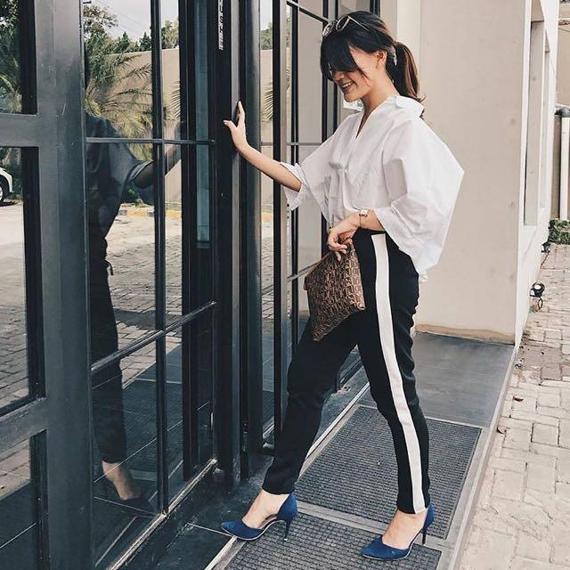 Side stripe pants