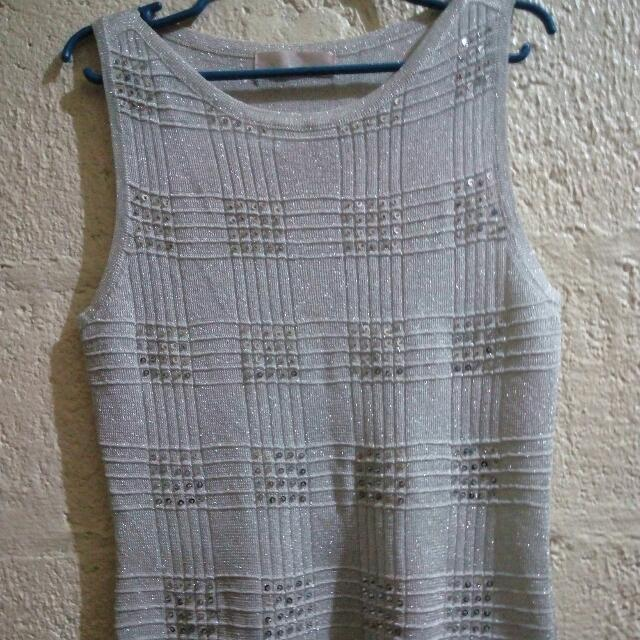 Silver Sequence Top
