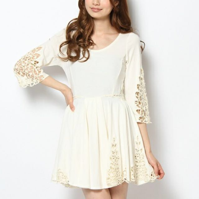 Snidel 刺繡鏤空洋裝