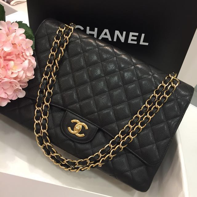 39d22709ee80ae ❌SOLD❌ Full Set! Excellent Condition Chanel Maxi Single Flap Bag ...