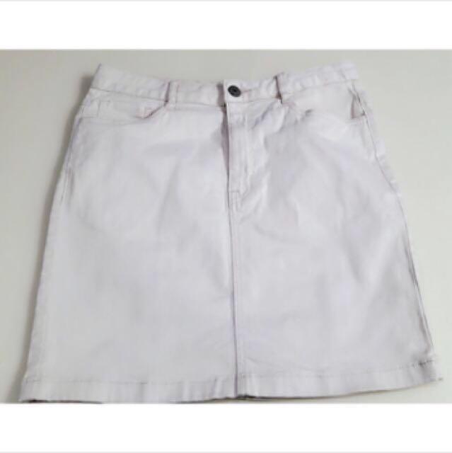 韓國品牌spao白色短裙 #我的女裝可超取