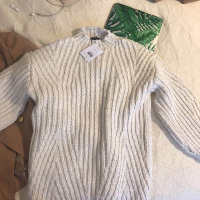 TOPSHOP Cream sweater size 2 (34), OVERSIZED