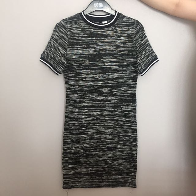 TOPSHOP Grey Body Fit Dress