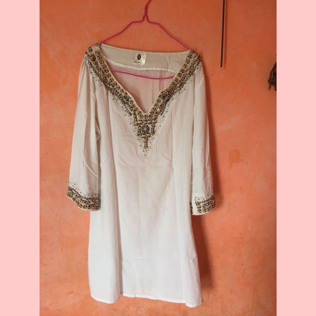 tunik bohemian mini dress
