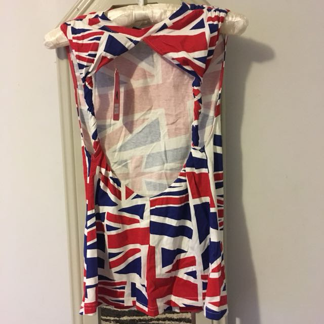 """Union Jack Backless Muscle Tee - """"Forgotten Princess"""""""
