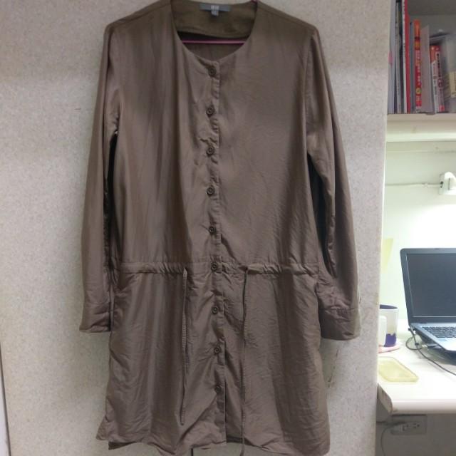 Uniqlo 洋裝連身裙長版襯衫