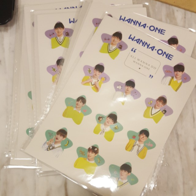 WANNA ONE STICKER ~ READY STOCK