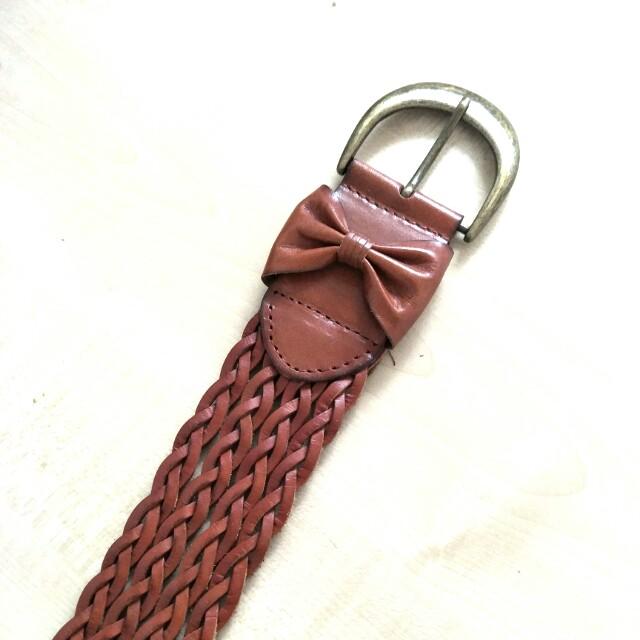 Wide Bow Belt - fake leather, high waisted, vintage, cute, kawaii