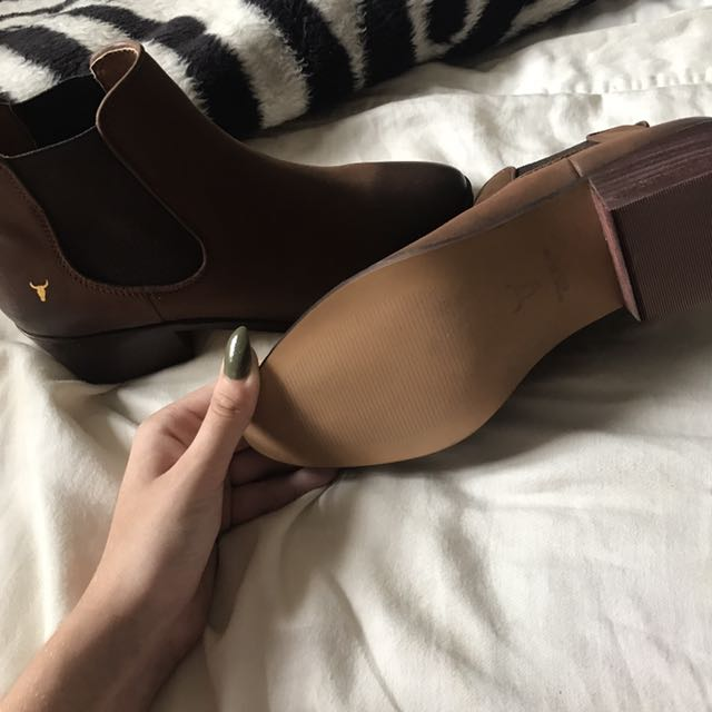 Windsor Smith Leather Tan Boots