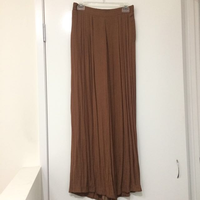 WITCHERY Size XS Copper / Summer Wide leg pant not lined / Never worn