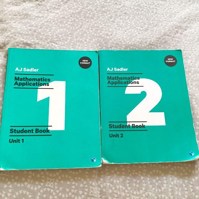Year 11 Sadler unit 1&2 Math applications book