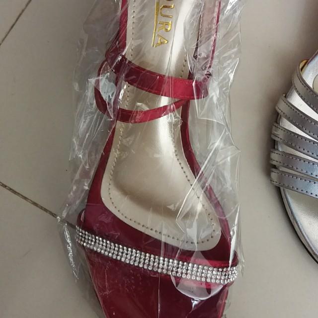 Youra Maroon Glamor Heels