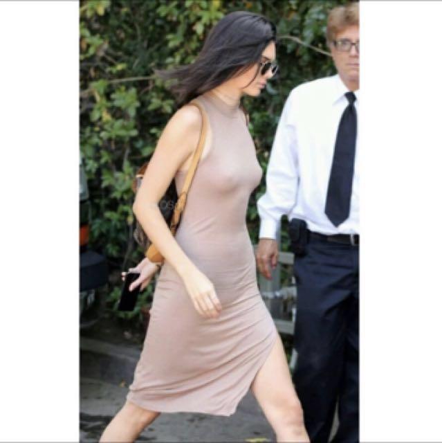 歐美Zara 款修身半高領無袖側開衩洋裝 軍綠#我的女裝可超取