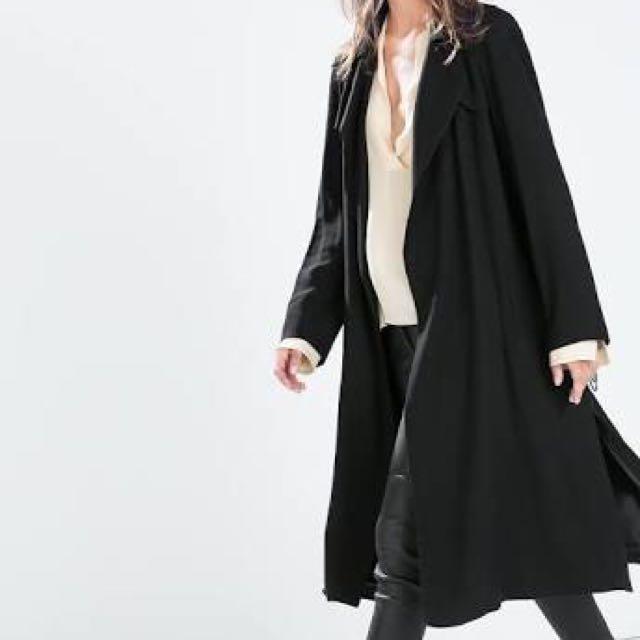Zara Flowy Lightweight  Trench/Duster Coat