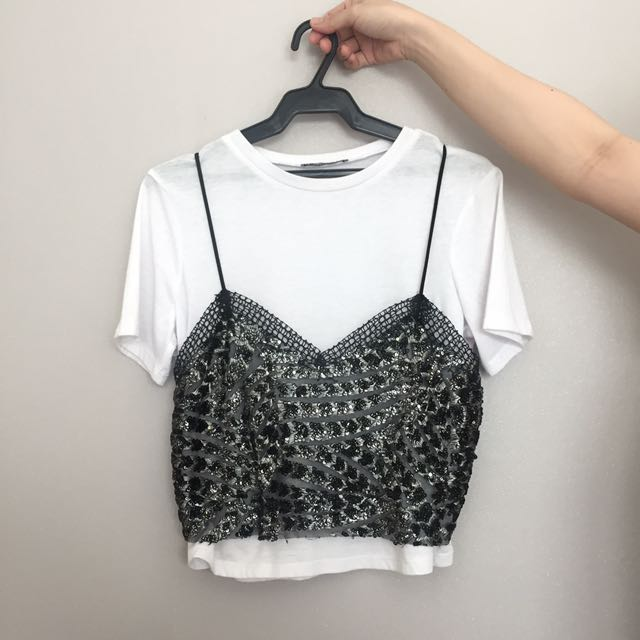 ZARA Sequenced Blouse