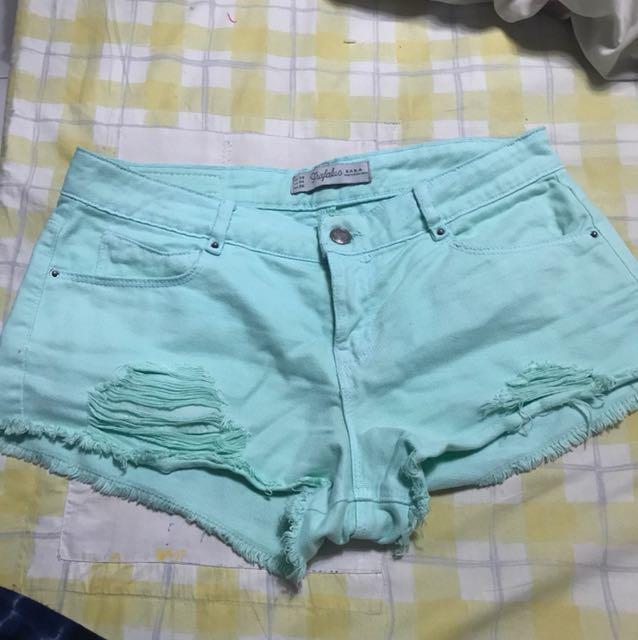 Zara trf ripped shorties