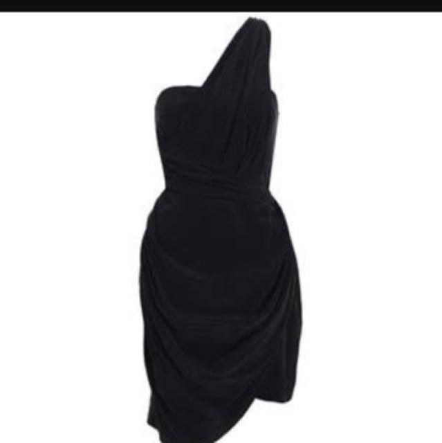 Zimmerman One Shoulder Drape Dress
