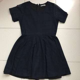 Rosearrk Navy Lace Babydoll Dress