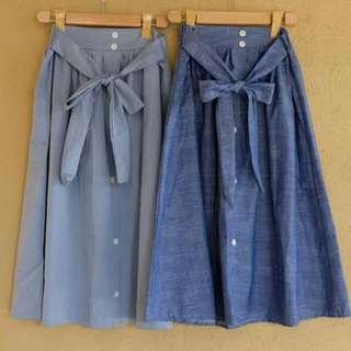 ribbon buttons skirt
