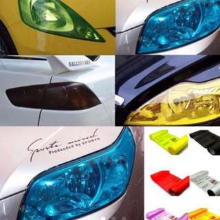 1Pcs Vinyl Three Layers 30cmX 100cm Motorcycle Auto Car Light Headlight Taillight Tinting Film Adhesive Film Sticker