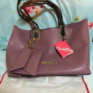 Authentic Carlo Rino large bag with authenticity card and dust bag ✨🌟