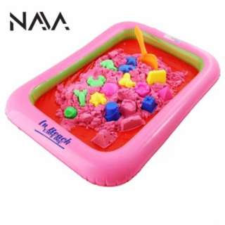 (LESS 71%) NaVa DIY 2kg Kinetic Space Playing Colors Sand with Air Pump
