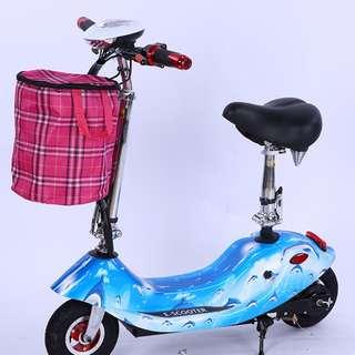 女士迷你電動車可折疊便攜式代步電動滑板車代駕電動腳踏車非機車