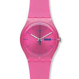 Authentic Swatch Rebel pink watch