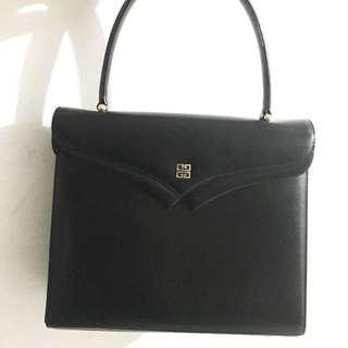 中古 Givenchy vintage 黑色手挽袋 非 Ferragamo celine Dior YSL Fendi Chanel