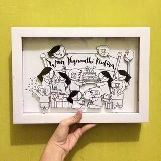 JASA - Custom Gift/ Kado Unik doodle, pop up (wisuda, ulg tahun, anniversary, perpisahan, wedding, dsb)