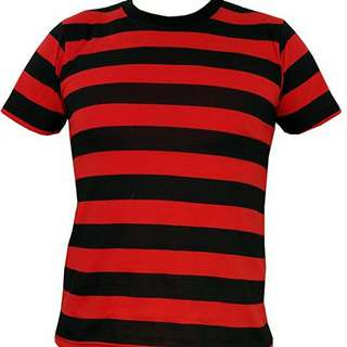 LF : RED BLACK STRIPED SHIRT