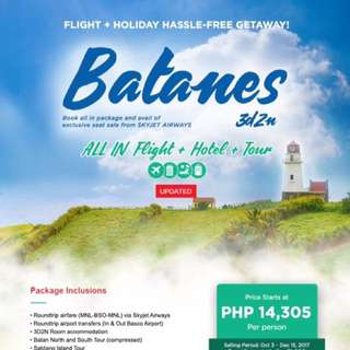 BATANES ALL-IN TOUR PACKAGE