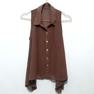 SALE! top Brown