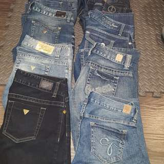 Guess, Parasuco, and other Brand Jeans